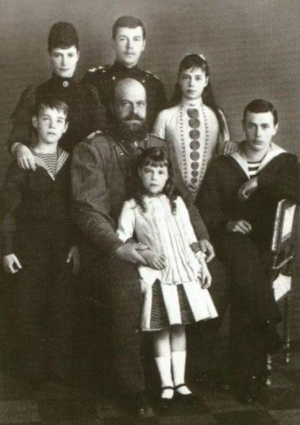 Александр III с наследниками.