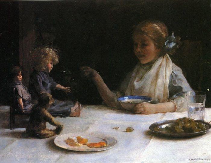 Чарльз Кортни Каран. Америка. (1861–1942) Вечеринка. 1919 год.