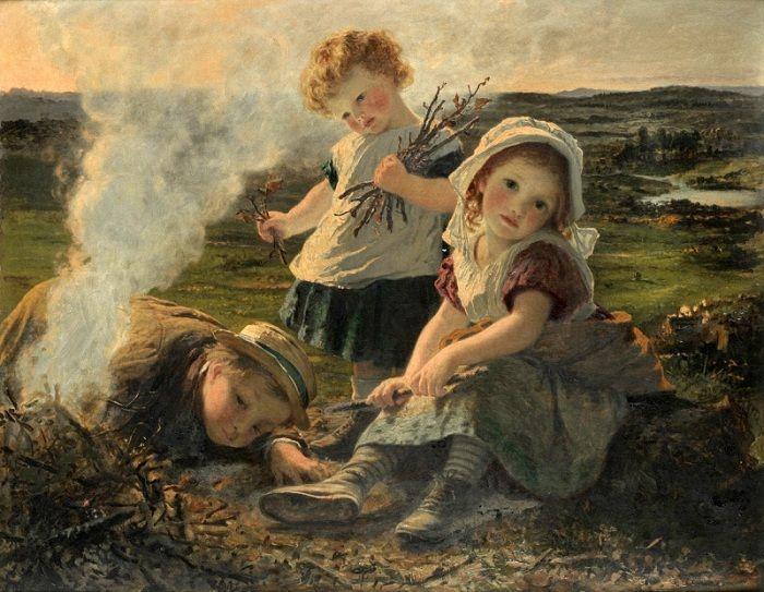 Софи Жанжамбр Андерсон (1823-1903). Англия. Костер.