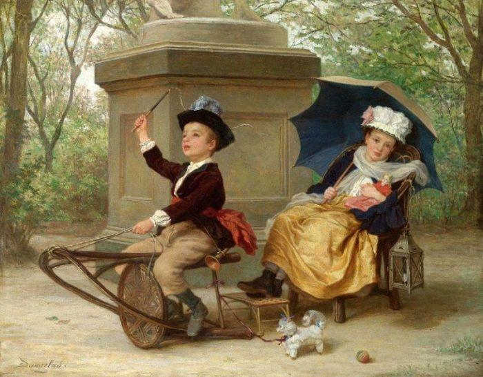 Andre-Henri Dargelas (1828-1906). Франция. Вечеринка для великих приключений.