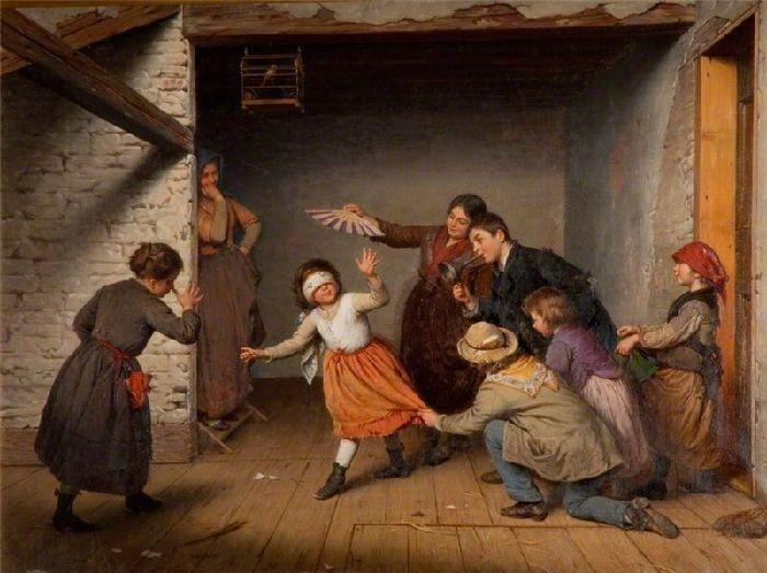 Антонио Паолетти. (1834 - 1912). Италия. Жмурки.