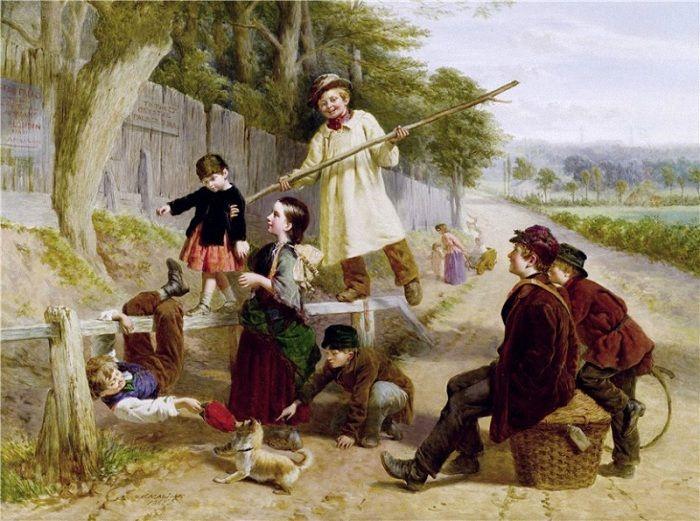 Вильям Генри Найт (1823-1863). Англия. Соперничество с блондином. 1862 г.