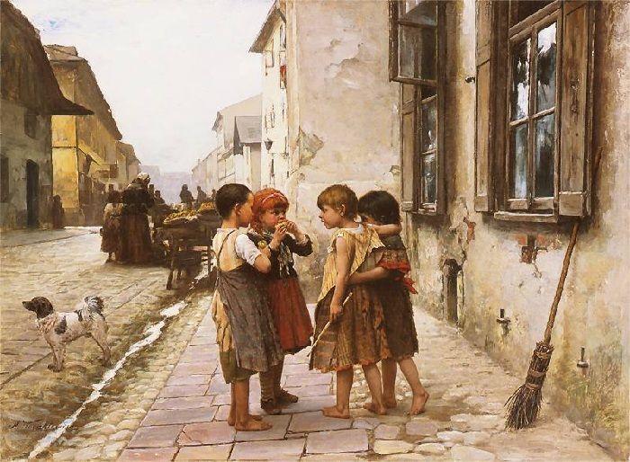 Антони Козакевич (1841-1929). Польша. На улице. 1891-1892 гг.